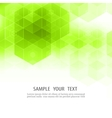 Geometric green abstract background Hexagon vector image vector image