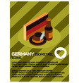germany color isometric poster vector image vector image