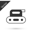 grey electric planer tool icon isolated on white vector image vector image