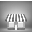 Grey Shop Icon vector image