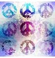 Grunge pacifics symbol vector image