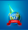 happy day earth vector image vector image