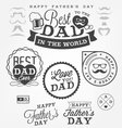 Happy Fathers Day Badges and Labels vector image vector image