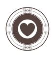 heart seal stamp vector image vector image