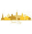 iowa city skyline golden silhouette vector image vector image