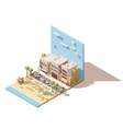 Isometric town beach