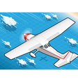 Isometric White Plane in Flight in Rear View vector image vector image