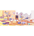 kids nursery or kindergarten room interior vector image