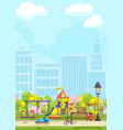 kids playground in design vector image vector image