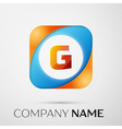 Letter G logo symbol in the colorful square on vector image vector image