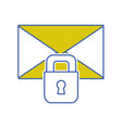 letter text message with padlock security vector image vector image