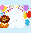 lion with party card vector image