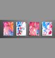 mixture of acrylic paints liquid marble texture vector image vector image