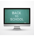 Monitor icon Chalkboard concept vector image vector image