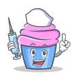 nurse cupcake character cartoon style vector image vector image