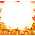 Orange Pumpkins Frame vector image vector image