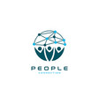 people connection logo design vector image