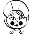 Pilgrim girl vector image vector image