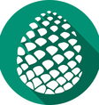 Pine Cone Icon vector image vector image
