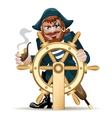 pirat with a steering wheel vector image vector image