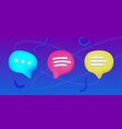 plasticine art sms icon set speech bubble vector image