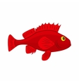 Red betta fish fighting fish icon cartoon style vector image vector image