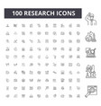 research line icons signs set outline vector image vector image