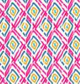 Rough brush pink diamond grid vector image vector image