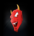 Satan smiling vector image vector image