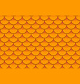 seamless pattern of colorful orange fish scales vector image vector image