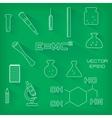 set of scientific icons vector image vector image