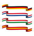 set ribbons in the colors of Germany vector image vector image