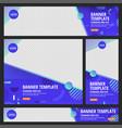 set web banner standard size vector image vector image