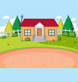 simple house design background vector image vector image