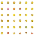 Smiley icon set vector image vector image