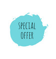 special offer design template vector image vector image