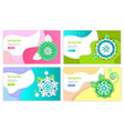 spring sale web pages with text sample and buttons vector image