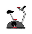 stationary bike spinning fitness related icon vector image vector image
