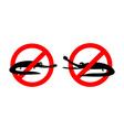 Stop crocodile Prohibited alligator Strikethrough vector image