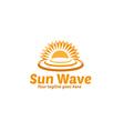 Sun Wave Logo vector image vector image