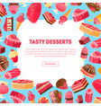 tasty desserts banner template with place for text vector image vector image