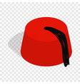 turkish hat fez isometric icon vector image vector image