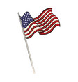 united states of american flag waving emblem vector image vector image