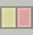 Vignettes set of vintage photo frames icons