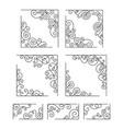 vintage flourish corners vector image