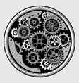 vintage industrial machinery with gears cogwheel vector image