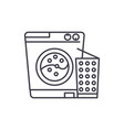 washer line icon concept washer linear vector image vector image