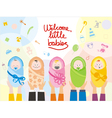 Welcome little babies vector image