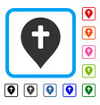 religion cross marker framed icon vector image