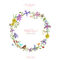 Invitation card with love mothers Day watercolor vector image